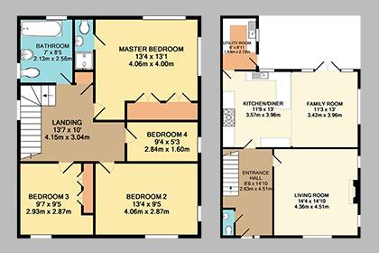 Coloured Floor Plans