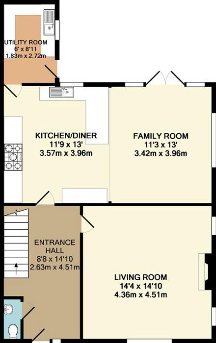 Invicta estate agents coloured floor plans faversham kent for Floor plans for estate agents